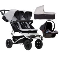 Mountain Buggy Duet V3 Travel System & Carrycot (Silver)