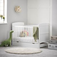 grace cot bed & under drawer (white)