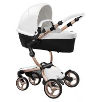 Xari 3-in-1 Pushchair (Snow White/Rose Gold Chassis)