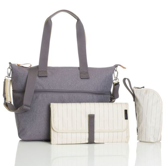 BABY CHANGING BAG EXPANDABLE TOTE (GREY)