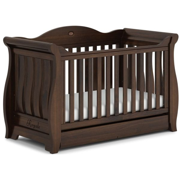 Sleigh Royale Cot Bed (Coffee)