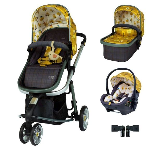 Giggle 3 Premium Travel System Bundle - Spot The Birdie
