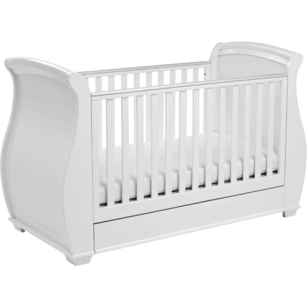 Bel Sleigh Cot Bed (White)