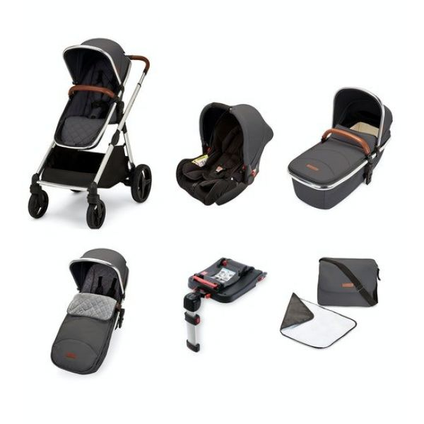 Eclipse Travel System with Galaxy Car Seat and Isofix Base (Graphite grey)