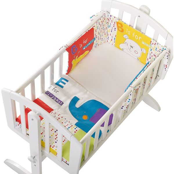 B is for Bear 3 Piece Crib Set - Happy Safari