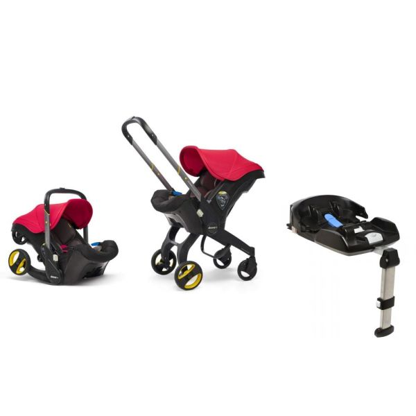 Infant Isofix Car Seat Stroller (Flame Red)