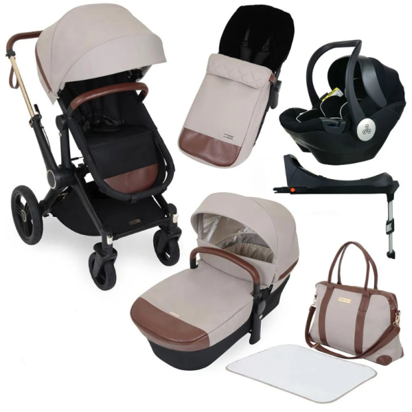Aston Rose Luxury 10 Piece Pushchair Bundle - Stone