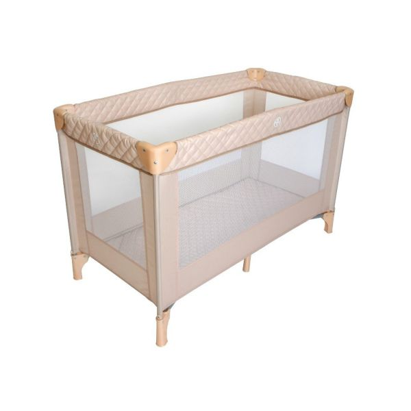 Blush Quilted Travel Cot