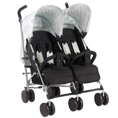"""MAWMA Nicole """"Snooki"""" Polizzi Marble Double Stroller with reversible seat liners"""