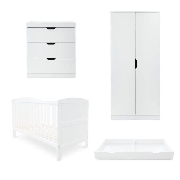 Coleby Classic 4 Piece Furniture Set - White