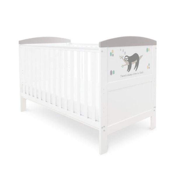 Coleby Style Cot Bed & Foam Mattress (Sloth Grey)