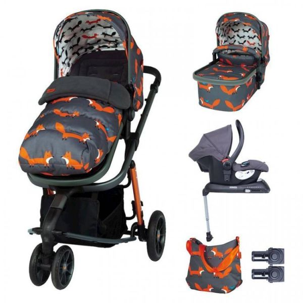 Giggle 3 Whole 9 Yards Hold Isofix Travel System Bundle - Charcoal Mister Fox
