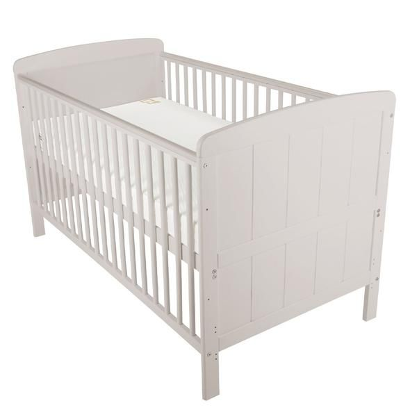 Juliet Cot Bed and Cuddleco Harmony Sprung Mattress (Dove Grey)