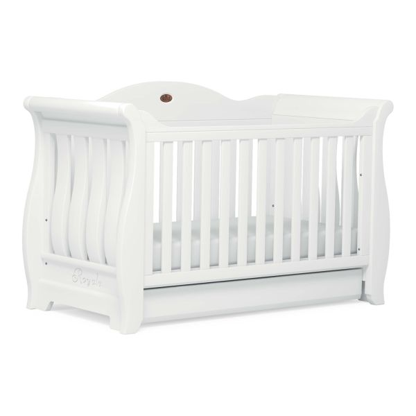 Sleigh Royale Cot Bed (Barley White)