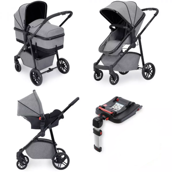 Moon Travel System With ISOFIX (Space Grey & Black)