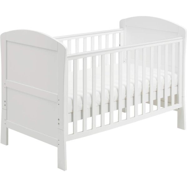 Aston Drop Side Cot Bed (White)