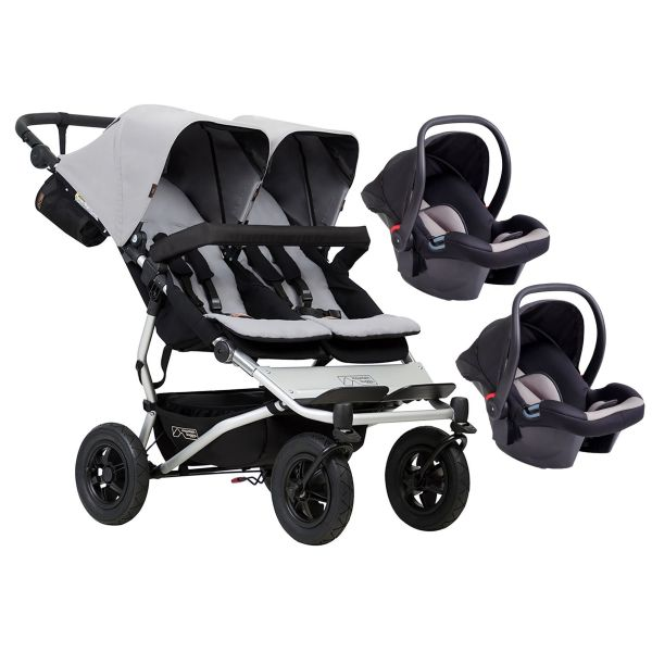 Mountain Buggy Duet V3 Double Travel System (Silver)
