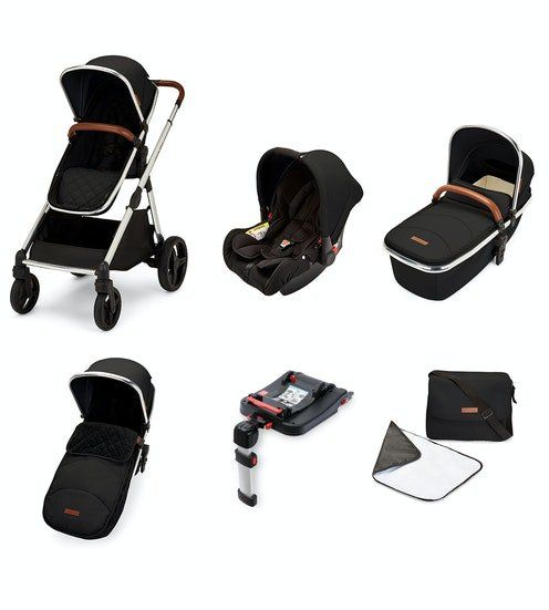 Eclipse Travel System with Galaxy Car Seat and Isofix Base (Jet black)