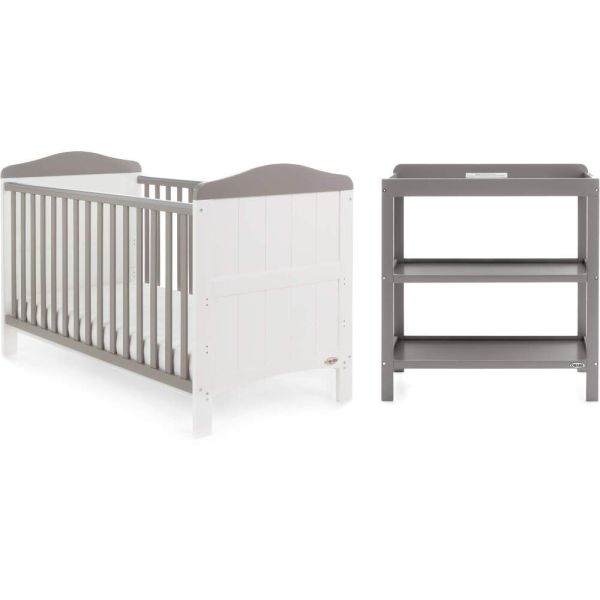 Whitby 2 Piece Room Set - White with Taupe Grey