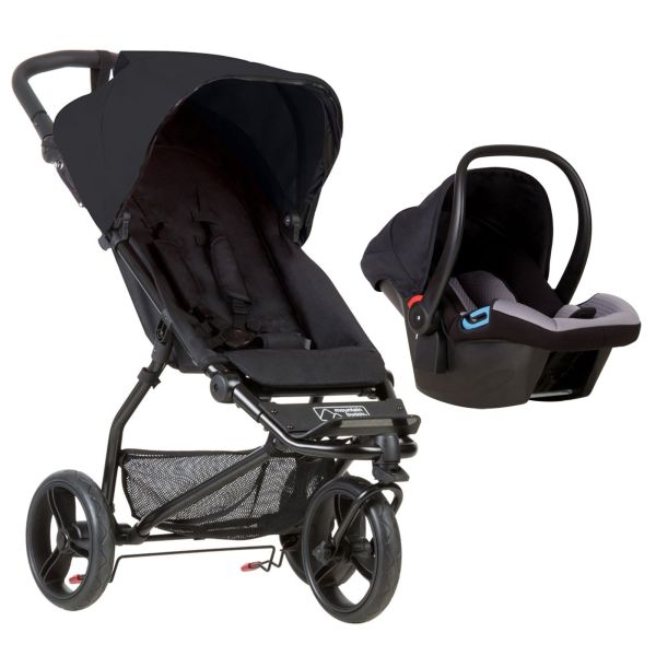 Mini V3 (Black) + FREE Mountain Buggy Protect 0+ Car Seat + adapters