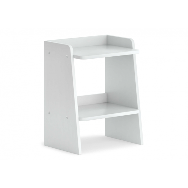 Neat Bedside Table - White