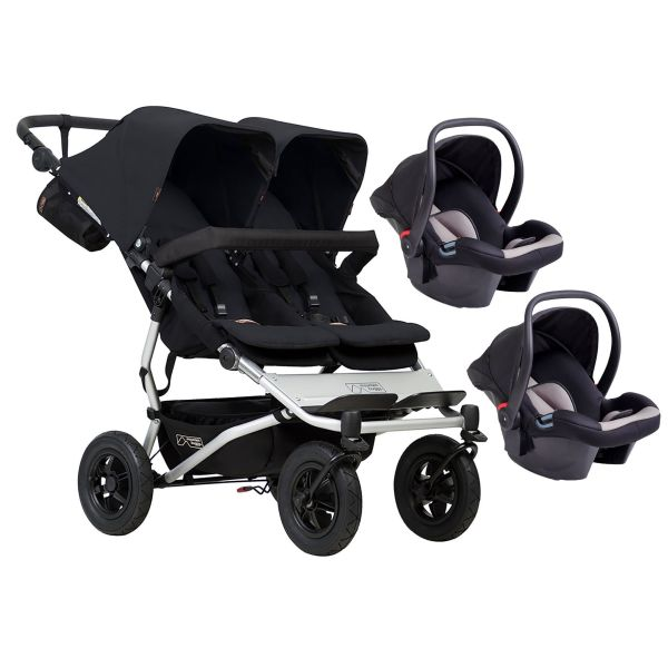 Mountain Buggy Duet V3 Double Travel System (Black)