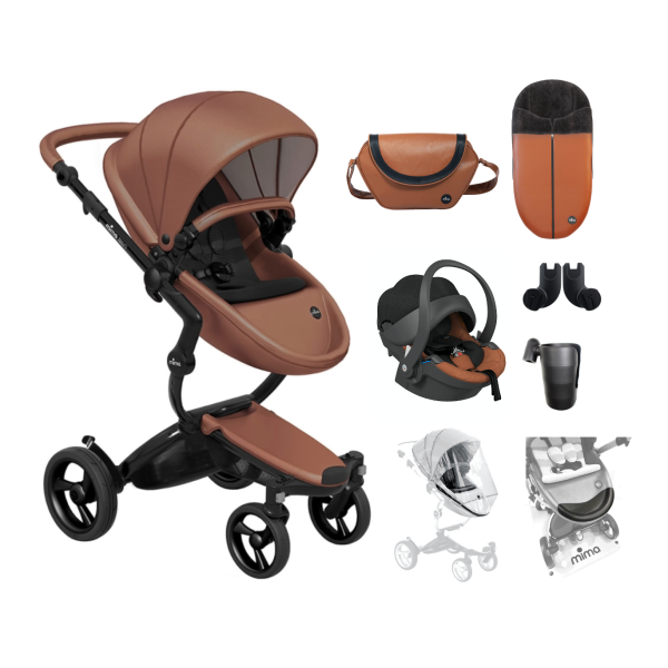 Xari 4G Complete Travel System - Camel on Black