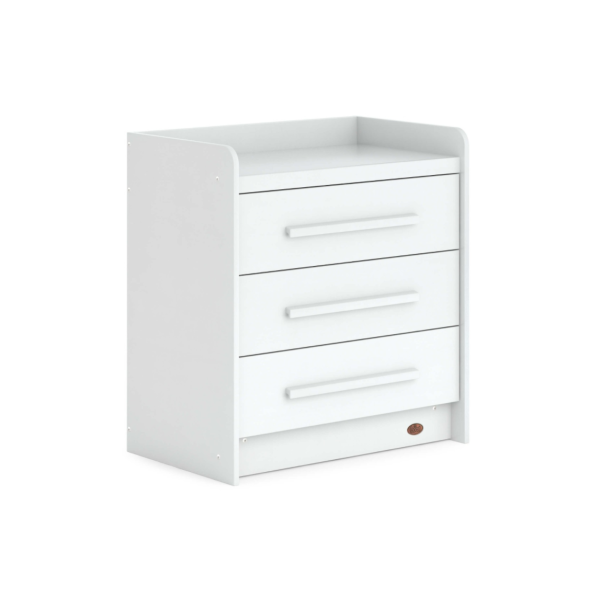 Neat 3 Drawer Chest - White