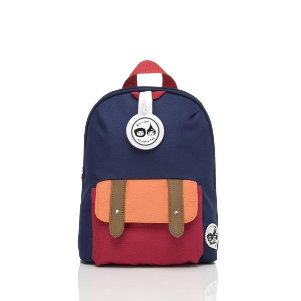 Mini toddler  Backpack (Navy Colourblock)