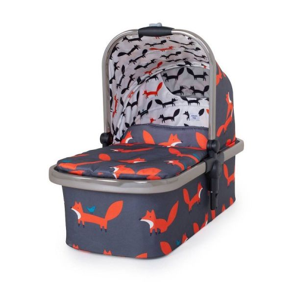Wow XL Carrycot (to add for 2nd child) - Charcoal Mister Fox