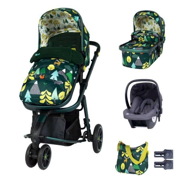 Giggle 3 Marvellous Bundle - with Hold Graphite Car Seat Into The Wild