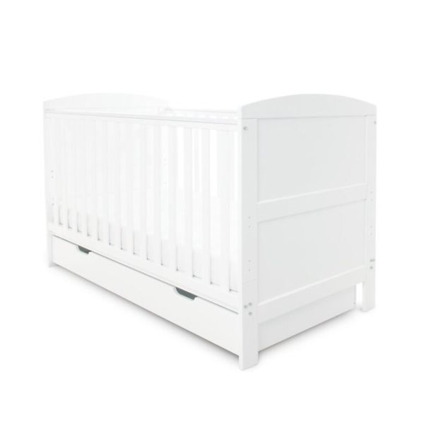 Coleby Classic Cot Bed & Under Drawer (White)