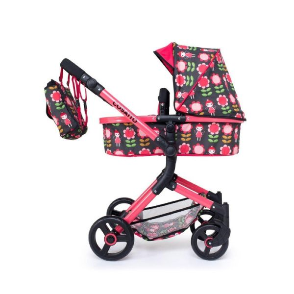 Wonder Dolls Pram & Carseat - Fairy Garden