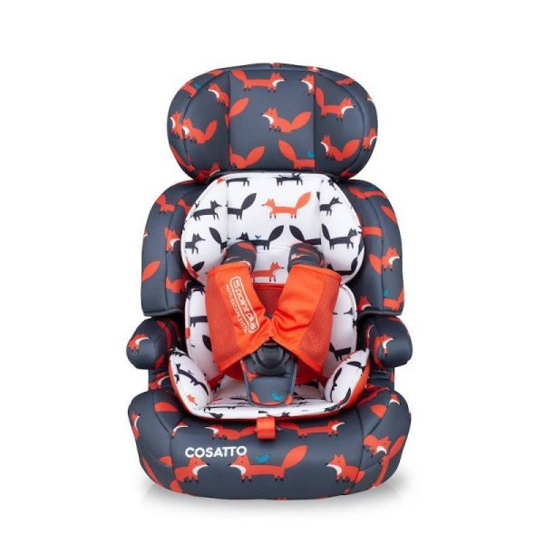 Zoomi Group 123 Anti-Escape Car Seat - Charcoal Mister Fox