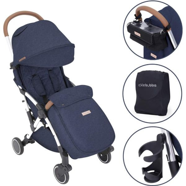 GLOBE STROLLER PRIME (DENIM BLUE ON SILVER)