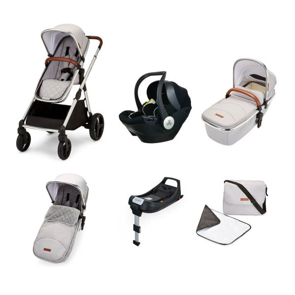 Eclipse Travel System with Mercury i-size Car Seat and Isofix Base (silver grey)