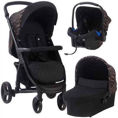 MB200+ Black and Rose Gold Travel System