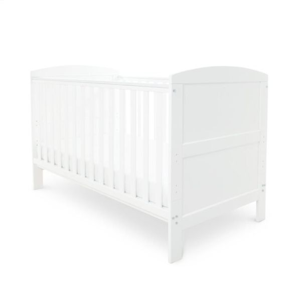 Coleby Classic Cot Bed & Pocket Sprung Mattress (White)