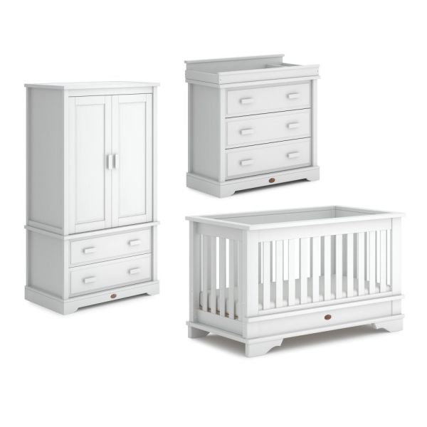 Eton Convertible Plus 3 Piece Room Set  (Barley White)