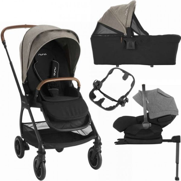 Triv Travel System Bundle inc ARRA i-Size Car Seat (Mocha)
