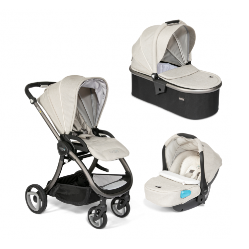 Arlo Charcoal 3 in 1 Travel System (Oatmeal)