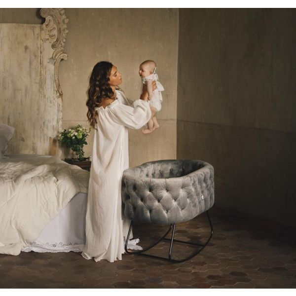 Tufted Bassinet - (Dusty Blue)