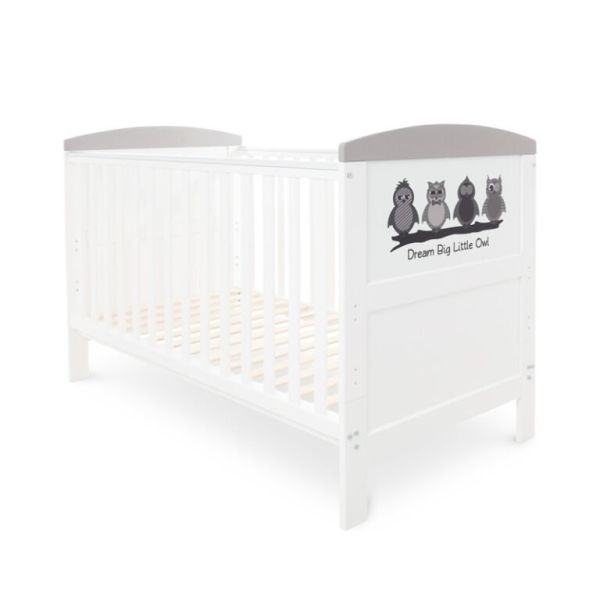 Coleby Style Cot Bed & Foam Mattress (Dream Big Little Owl)