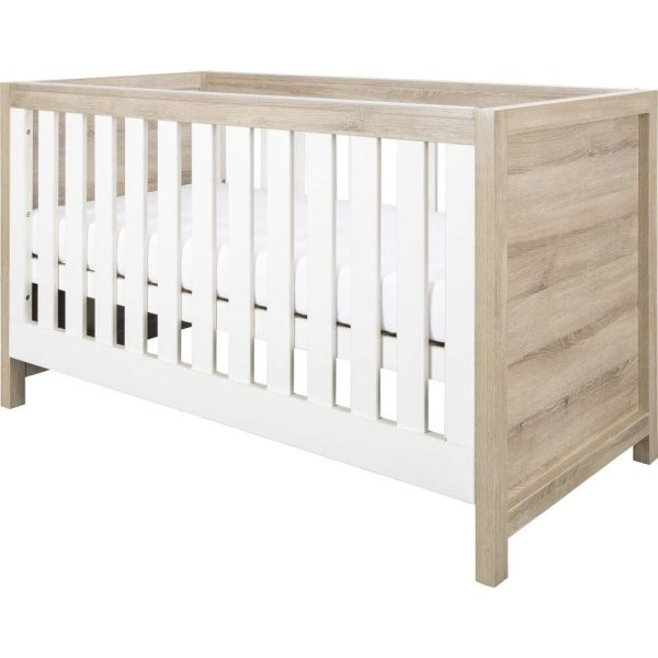 Modena Cot Bed (White/Oak)