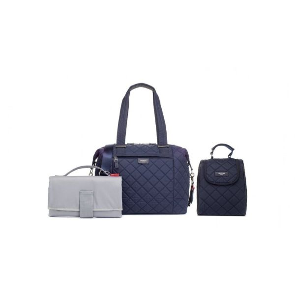 BABY CHANGING BAG STEVIE QUILT (NAVY)