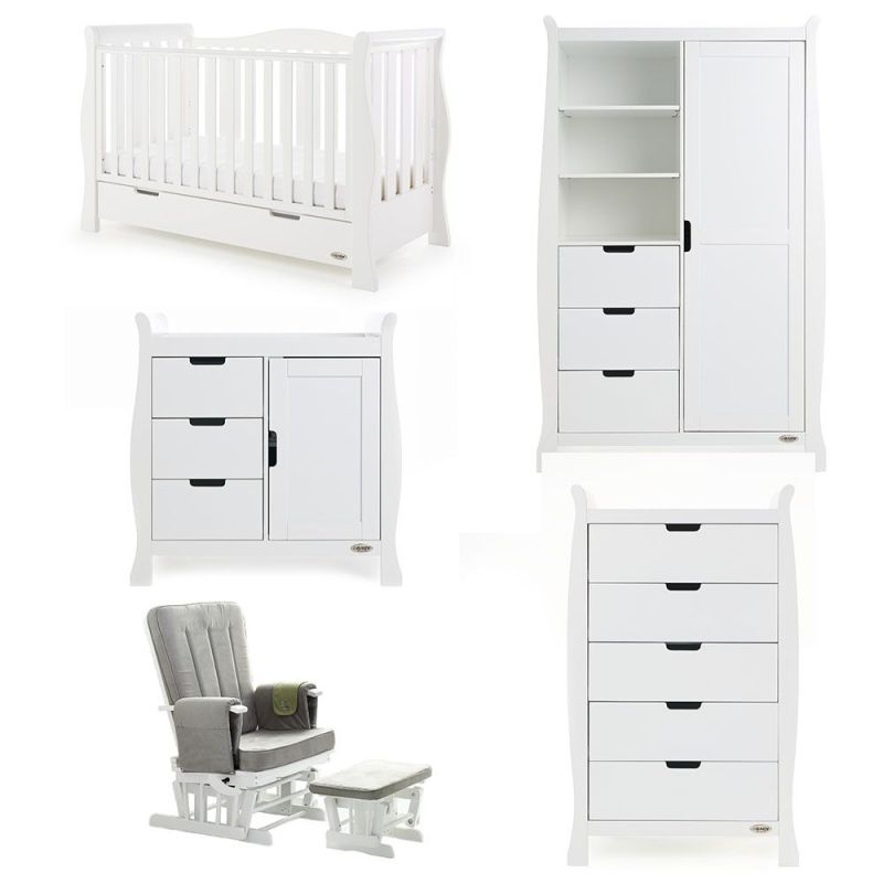 Stamford Luxe 5 Piece Room Set - White