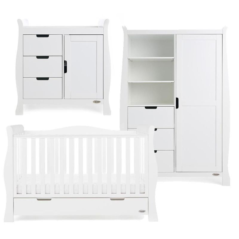 Stamford Luxe 3 Piece Room Set - White