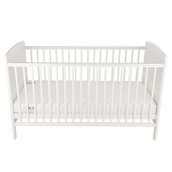 Juliet Cot Bed and Cuddleco Harmony Sprung Mattress (White)