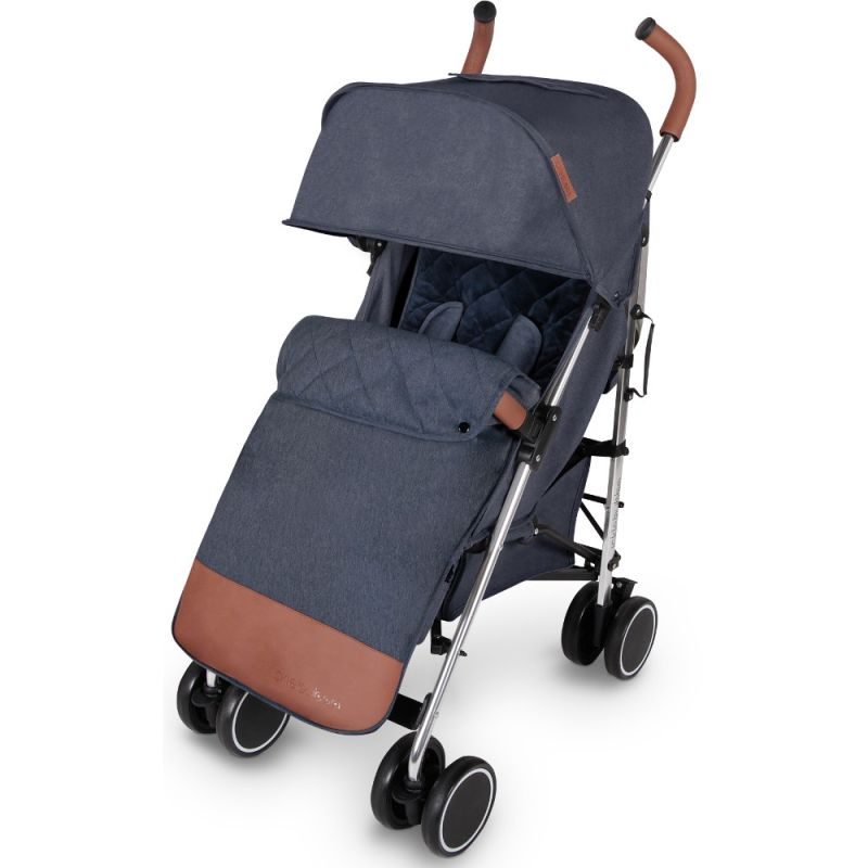 DISCOVERY STROLLER MAX (DENIM BLUE ON SILVER)