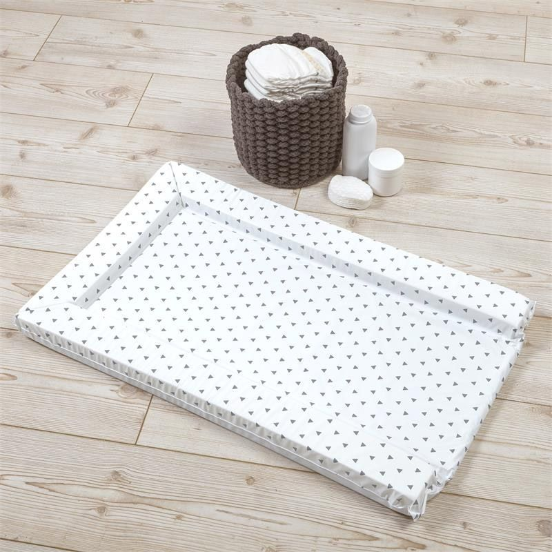 Tiny Triangles Changing Mat - Charcoal